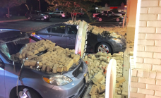 2 Cars Damaged After Brick Wall Collapses in Md.