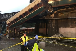 Amtrak Derails Onto Highway South of Seattle
