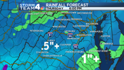 Rain Moves Into D.C. Area; Half an Inch Expected