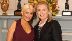 Aguilera Talks Giving Clinton an Eyeful of Cleavage