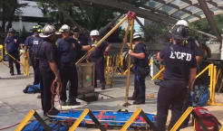 Worker Rescued After Fainting in Metro Escalator Pit