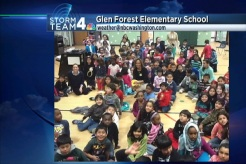 Veronica Johnson Visits Glen Forest Elementary School