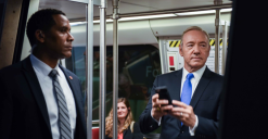 Kevin Spacey Promotes 'House of Cards' on DC Metro
