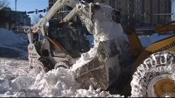 Exhausting Effort to Dig Out After Blizzard