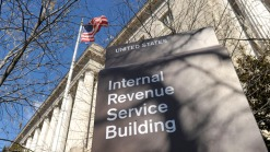 Protesters Denounce IRS at Agency's Headquarters