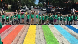 DC Crosswalks Get Rainbow Colors for Pride Weekend