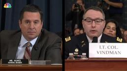 Vindman Corrects Nunes: 'Ranking Member, It's Lieutenant Colonel '