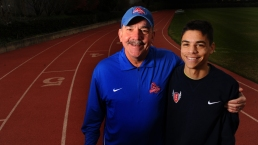 Olympic Runner Follows in Father's Footsteps