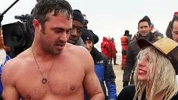 PHOTOS: Gaga, Vaughn Take Polar Plunge
