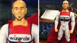 Wizards' Gortat Goes Action Figure