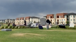 Strong Wind Sends More Than 150 Air Mattresses Flying