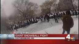 Snowball Fight in Dupont Circle