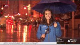 Washingtonians Brave the Rainy Saturday