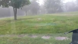 RAW: Hail in Hartwood, Virginia