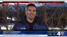 Doug Kammerer Hits the Slopes (And Talks Weather) in Colo.