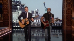 'Tonight': Rucker and Fallon's 'Only Wanna Thank the Troops'