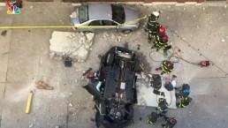 Car Falls From 4th Floor of Parking Garage, Killing 2