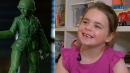 6-Year-Old Girl Leads Charge for 'Little Green Army Women'