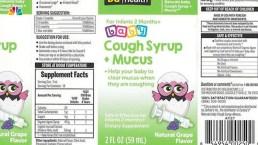Kingston Pharma Recalls Naturals Baby Cough Syrup