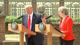 Trump Denies Criticizing May in Newspaper Interview