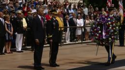 Pres. Obama Lays Wreath at Arlington National Cemetery