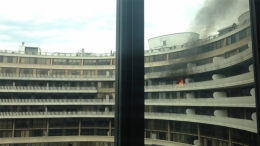 Flames Shoot From 13th-Floor Watergate Apt. During Blaze