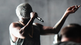 Latest Celeb Pics: Kanye's Masked Performance