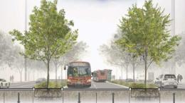 Proposal Would Put Bus Lanes Through Middle of K Street