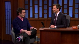 "Andy Samberg Visits ""Late Night With Seth Meyers"""