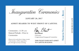 IMAGES: Tickets, Map Unveiled for Trump Inauguration