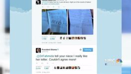 """""""Couldn't Agree More!"""": Obama Responds to 5-Year-Old Girl's Message on Twitter"""