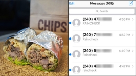 Whoops! Md. Man Gets 350+ Texts About Burritos for Chipotle Promo
