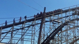 Coney Island Roller Coaster Gets Stuck on Opening Day