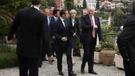 Trump Pushes on Terror, Listens on Climate at G-7