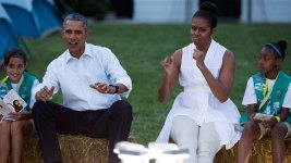 First Lady Hosts Girl Scout White House Campout