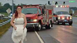 EMT Newlywed Rushes to Car Wreck in Her Wedding Dress