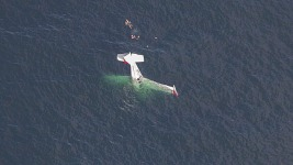 Pilot Films Rescue After Small Plane Crashes Off Calif. Coast