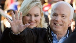 Watch: Biden Consoles Daughter of Ailing Sen. John McCain