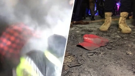 Anti-Trump Crowds Set Off Smoke Devices, Lit Fires Thurs. PM