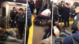 NY Subway Riders Beat Man After Mom Attacked on Platform