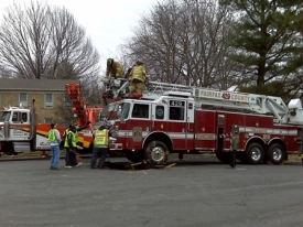 Sinkhole Claims Fire Truck | NBC4 Washington