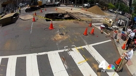 Repairs on Downtown Sink Hole Continue Thursday