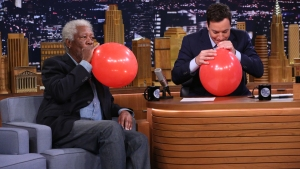 WATCH: Freeman, Fallon Talk on Helium