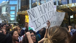 Hundreds Protest Immigration Order Outside Trump Hotel, Tower