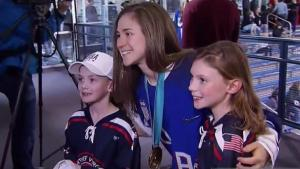 US Women's Team Holds Clinic for Local Hockey Players