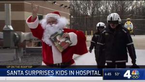 Santa Greets Kids at INOVA Children's Hospital