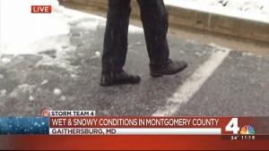 Snowy Commute Montogmery County