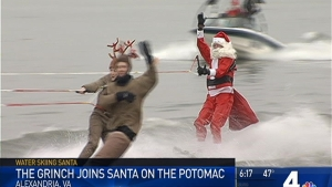 Grinch Joins Santa on the Potomac River