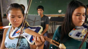World-Renowned Youth Orchestra Plays Instruments Made of Actual Garbage