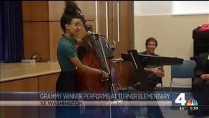 Grammy Winner Performs at Turner Elementary
